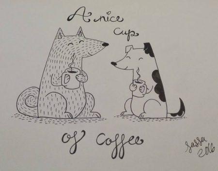 Päätin taas palata tänne blogien ihmeelliseen maiilmaan :) Tässä ihan ekaksi kaksi iloista koiraa <3